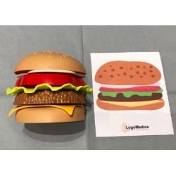 Hamburger + frytki + karty...
