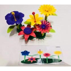 Kwiaty z kartami pracy -...